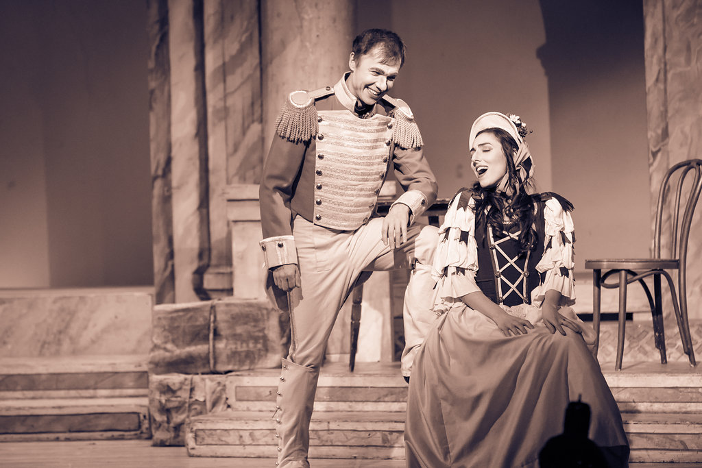 "Shot from the opera ""L'Elisire d'Amore"""